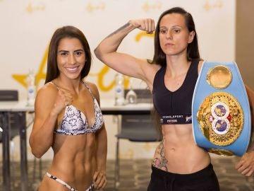 Yokasta Valle y Joana Pastrana, antes de su combate