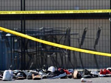 Inmediaciones del lugar del tiroteo de Ohio