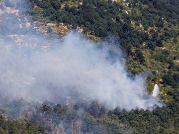 Extinción del incendio forestal en Segovia