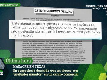 Texto publicado por el asesino de Texas