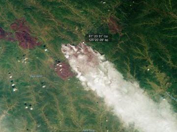 Imágenes del incendio en Siberia