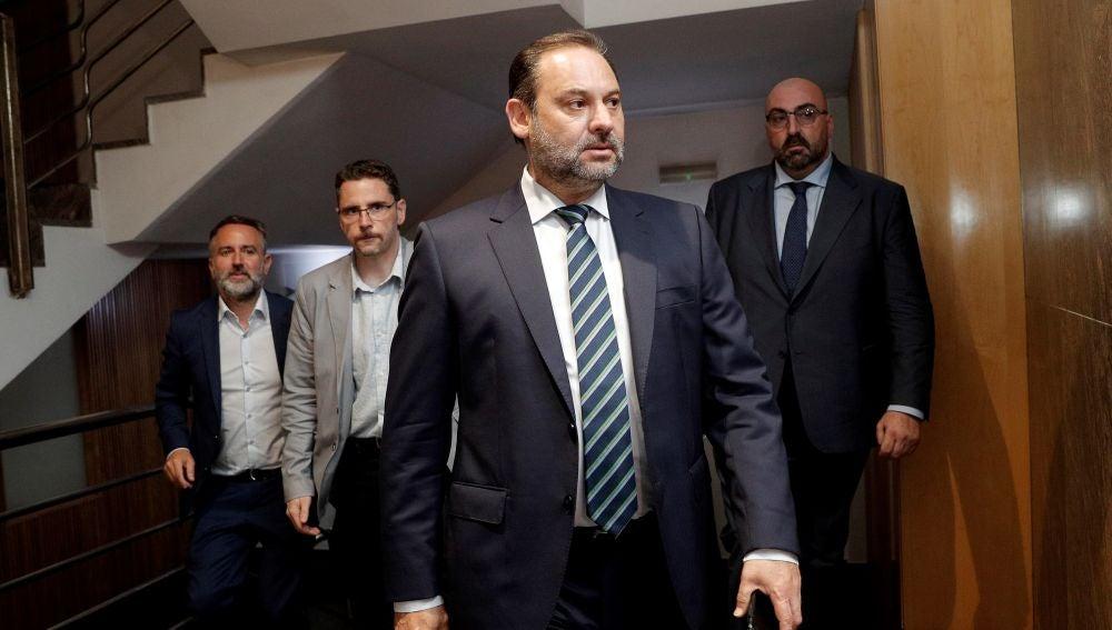 El secretario de Organización del PSOE y ministro de Fomento en funciones, José Luis Ábalos