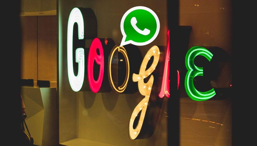 Google y el logotipo de WhatsApp