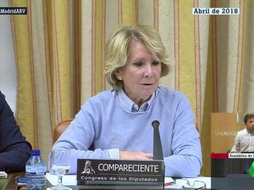 Así negaba Esperanza Aguirre la presunta financiación ilegal del PP madrileño