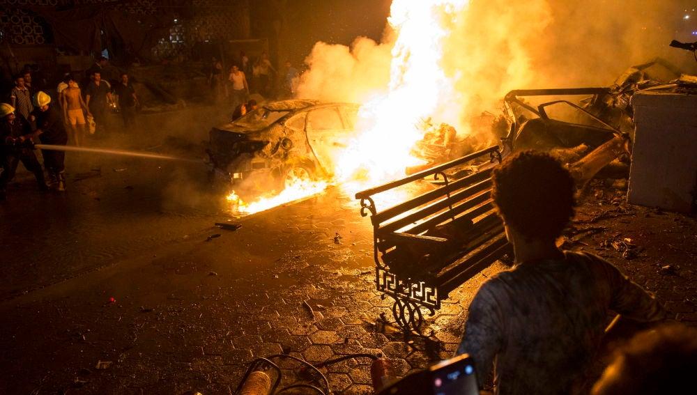 Imagen del momento de la explosión