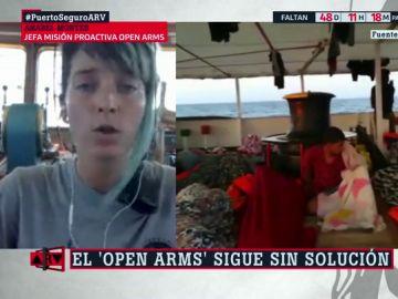 """Anabel Montes, coordinadora de Proactiva Open Arms: """"No queremos favores sino que el Gobierno interceda por el desembarco"""""""