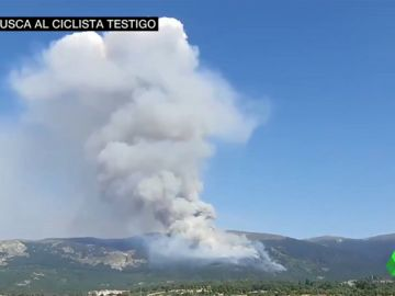 Buscan a un ciclista que pudo ver a un conductor arrojar fuego en la Sierra de Madrid