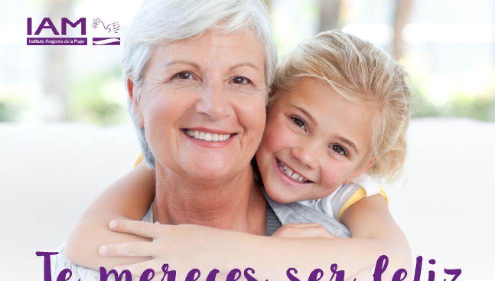 Cartel de la IAM contra la violencia de género en personas mayores 2017