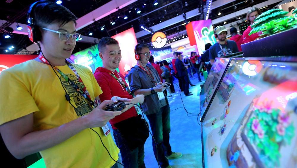 Jugadores durante el E3 de Los Ángeles