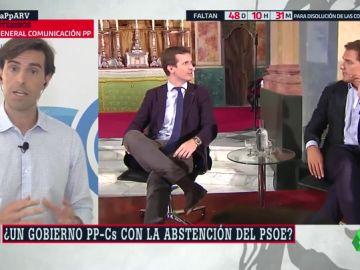 """Pablo Montesinos: """"Si persiste el bloqueo por culpa de Sánchez, ¿se abstendría el PSOE para investir a Casado?"""
