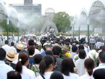 Ceremonia en el Parque Memorial de la Paz (Hiroshima)