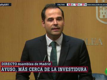 """Ignacio Aguado (Cs) advierte al PP que pueden ser """"leales pero no cómplices de corrupción"""""""