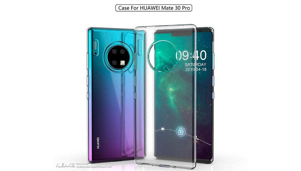 Huawei Mate 30 en su carcasa