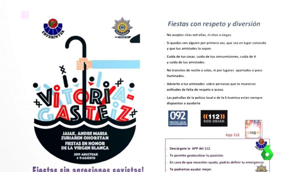 La Ertzaintza defiende su polémico folleto con consejos para evitar violaciones