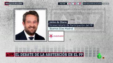 Olano defiende la abstención del PP en una investidura de un candidato socialista que no sea Sánchez