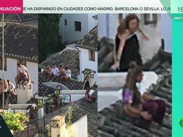 Las imágenes de la vergüenza de los turistas en el Albaicín: se suben a los tejados para beber e incluso orinar