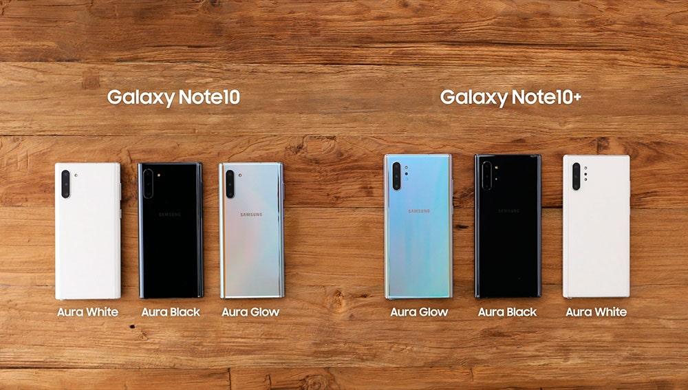 Samsung Galaxy Note 10 y Samsung Galaxy Note 10+