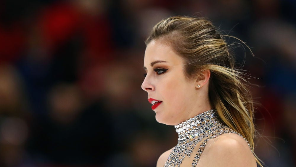 Ashley Wagner, durante una competición en 2017