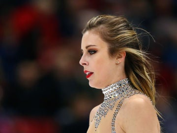 Ashley Wagner, durante una competición en 2017