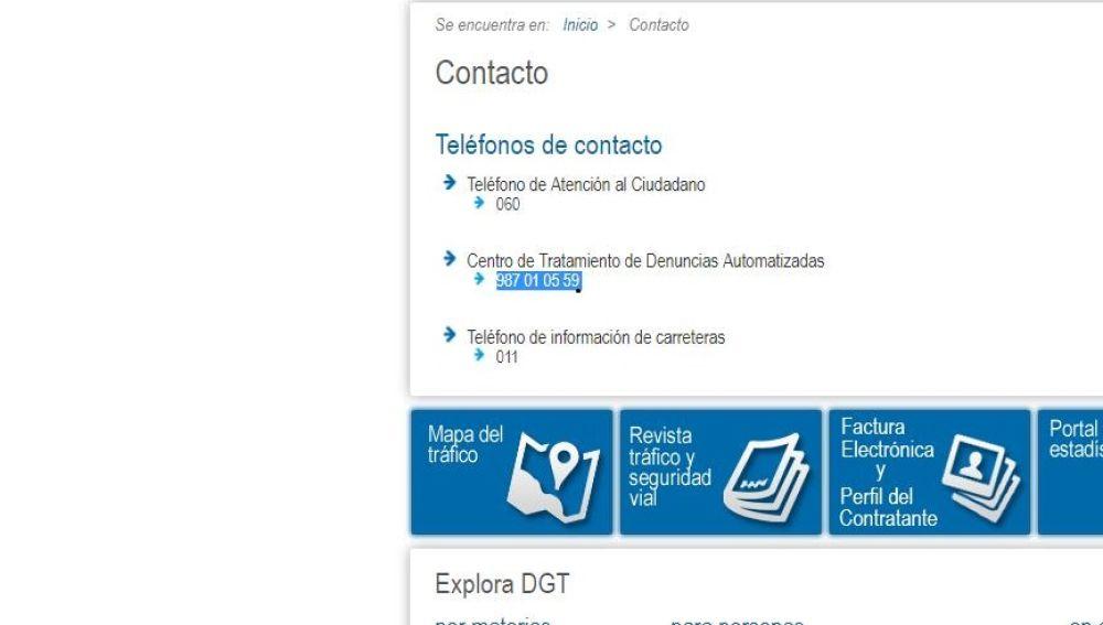 Nuevo teléfono de denuncias DGT