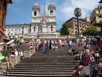 Escalinata de la plaza de España en Roma