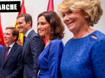Sesión de investidura de José Luis Martínez Almeida como alcalde con Ana Botella, Pablo Casado, Isabel Díaz Ayuso y Esperanza Aguirre
