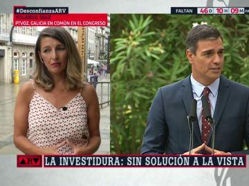 """Yolanda Díaz: """"Sánchez quiere que todo el mundo le de los votos gratis"""""""