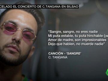"""Estas son las letras """"machistas"""" de C. Tangana por las que Bilbao cancela su concierto"""