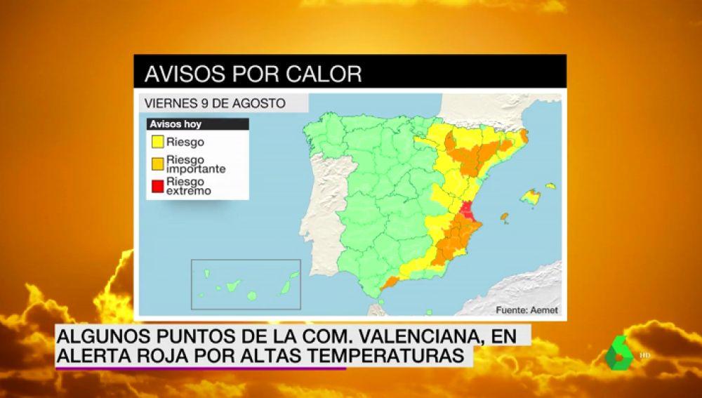 España, dividida por las temperaturas: calor extremo en el Mediterráneo y un frente de aire frío en el norte