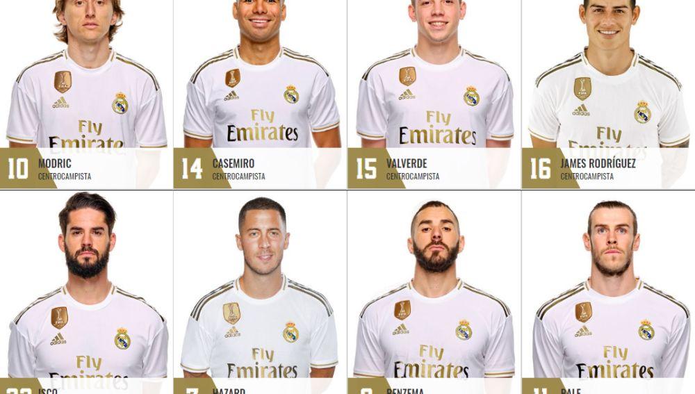 Los dorsales de la plantilla del Real Madrid