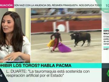 """Laura Duarte: """"La tauromaquia avergüenza a nuestro país y al resto de Europa"""""""