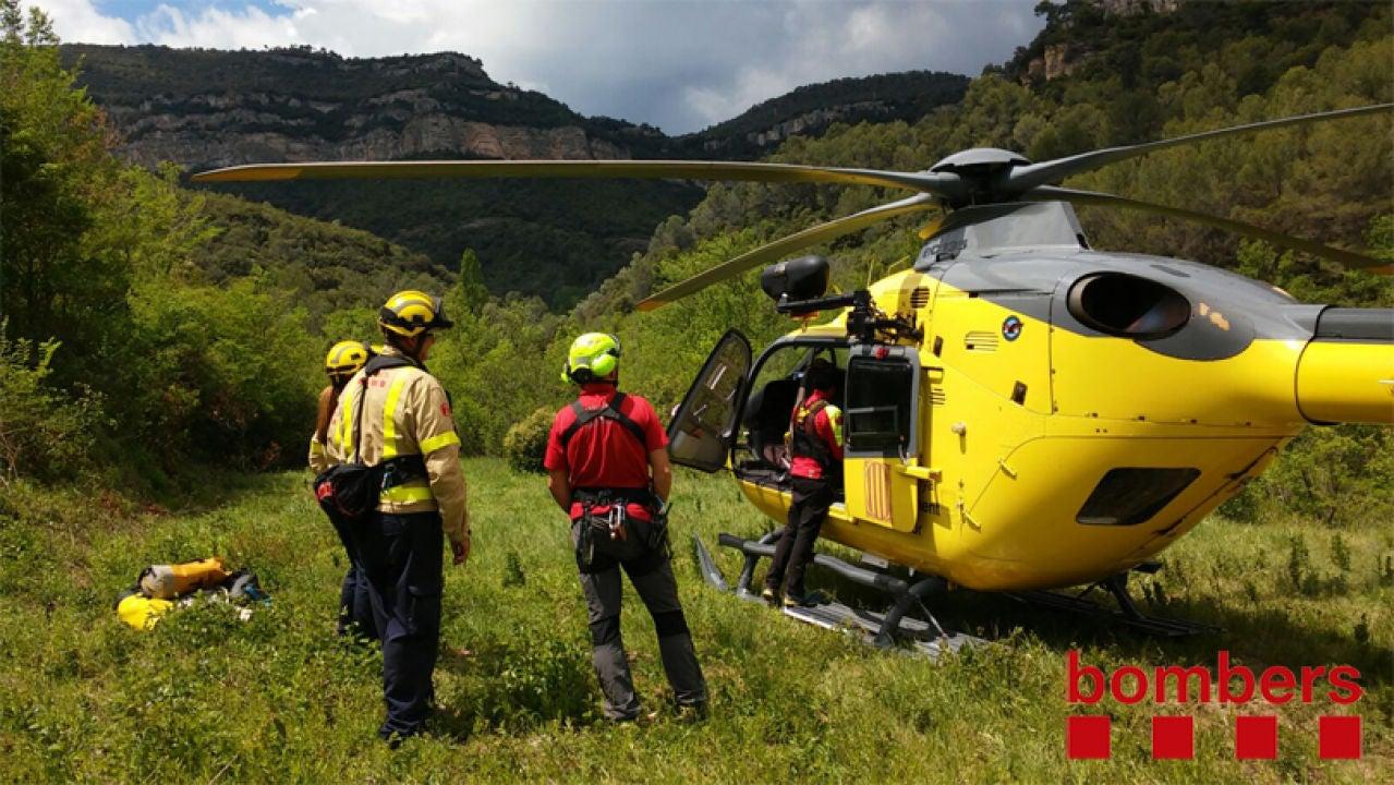 Un helicòpter dels bombers de la Generalitat