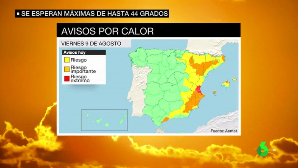 Alerta en casi 20 provincias por temperaturas de hasta 42 grados en el Mediterráneo y el Ebro