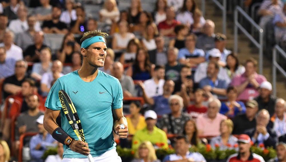 Rafa Nadal celebra su victoria contra Pella