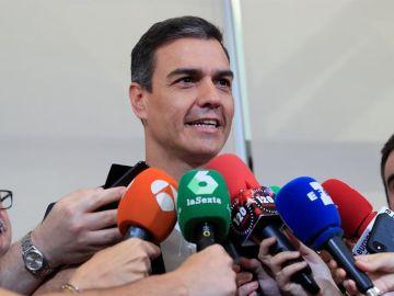 El secretario general y presidente del Gobierno en funciones, Pedro Sánchez
