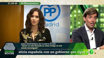 """Montesinos defiende a Ayuso: """"Las informaciones son una campaña orquestada por la izquierda, nerviosa ante su investidura"""""""