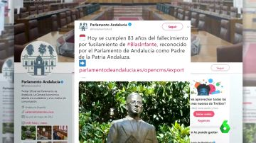 """Críticas contra el Parlamento andaluz tras calificar el asesinato de Blas Infante de """"fallecimiento por fusilamiento"""""""