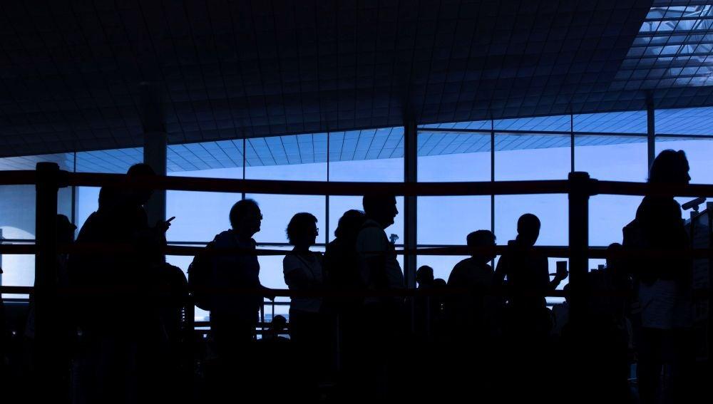 Pasajeros en el Aeropuerto de El Prat