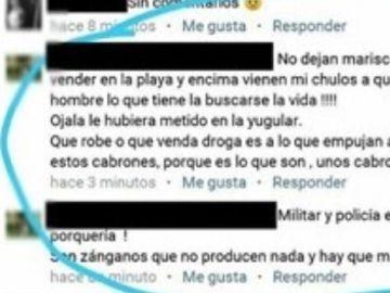 Comentario en Facebook contra el policía apuñalado en Punta Umbría