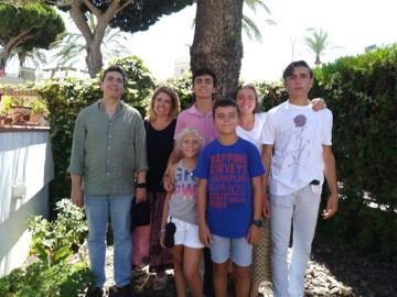 Una familia numerosa residente en Sevilla