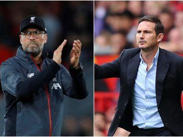 Klopp y Lampard, entrenadores de Liverpool y Chelsea