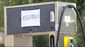 Gasolinera desabastecida en Portugal