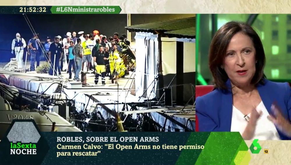 """Margarita Robles, sobre la crisis del Open Arms: """"Cuando la situación se hizo insostenible, mandamos al buque Audaz"""""""