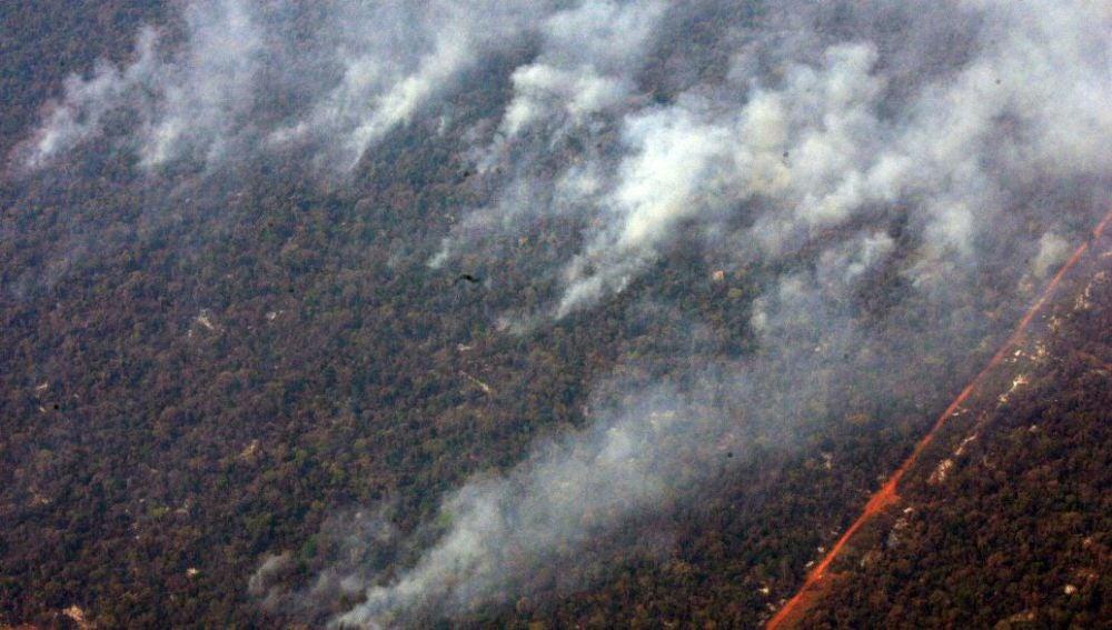 Imagen de un incendio en el Amazonas