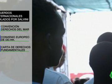 Estos son los tratados internacionales que viola Salvini al rechazar la acogida de migrantes rescatados