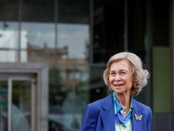 La Reina Sofía a su salida del hospital