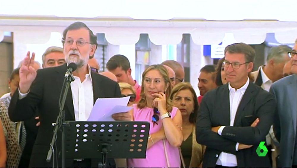Rajoy brilla como pregonero de las fiestas del vino de Leiro con un discurso muy al 'estilo Rajoy'