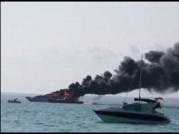 Incendio en un yate de lujo en Mallorca