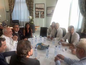 Encuentro entre Macron y el ministro de Exteriores iraní, Mohamed Yavad Zarif