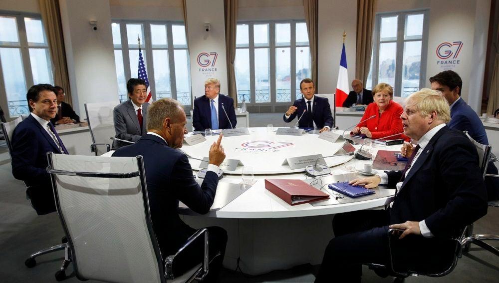 Líderes reunidos en la cumbre el G7